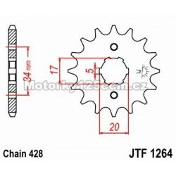 Řetězové kolečko JT - Derbi...